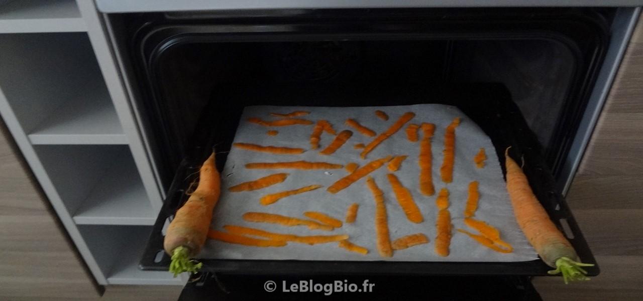 Cuisiner des chips maison avec vos épluchures de carotte