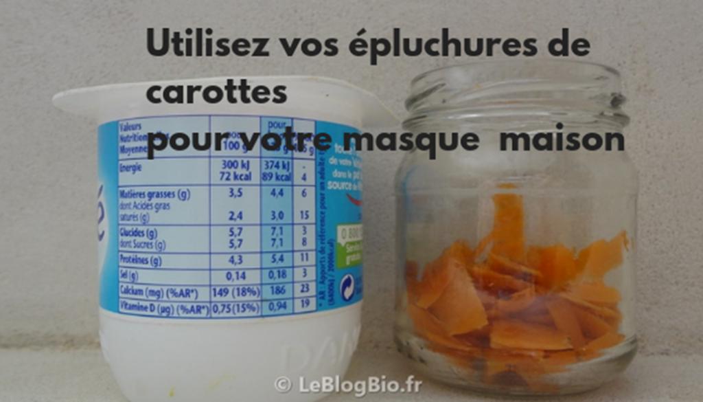 Préparer votre masque de carotte avec vos épluchuresmaison #zerodechet #antigaspi #economie