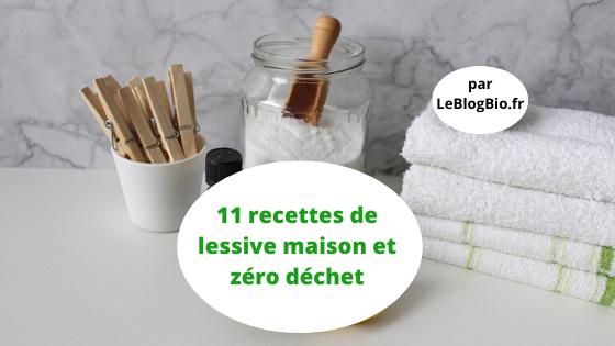 11 recettes maison de lessive zéro déchet