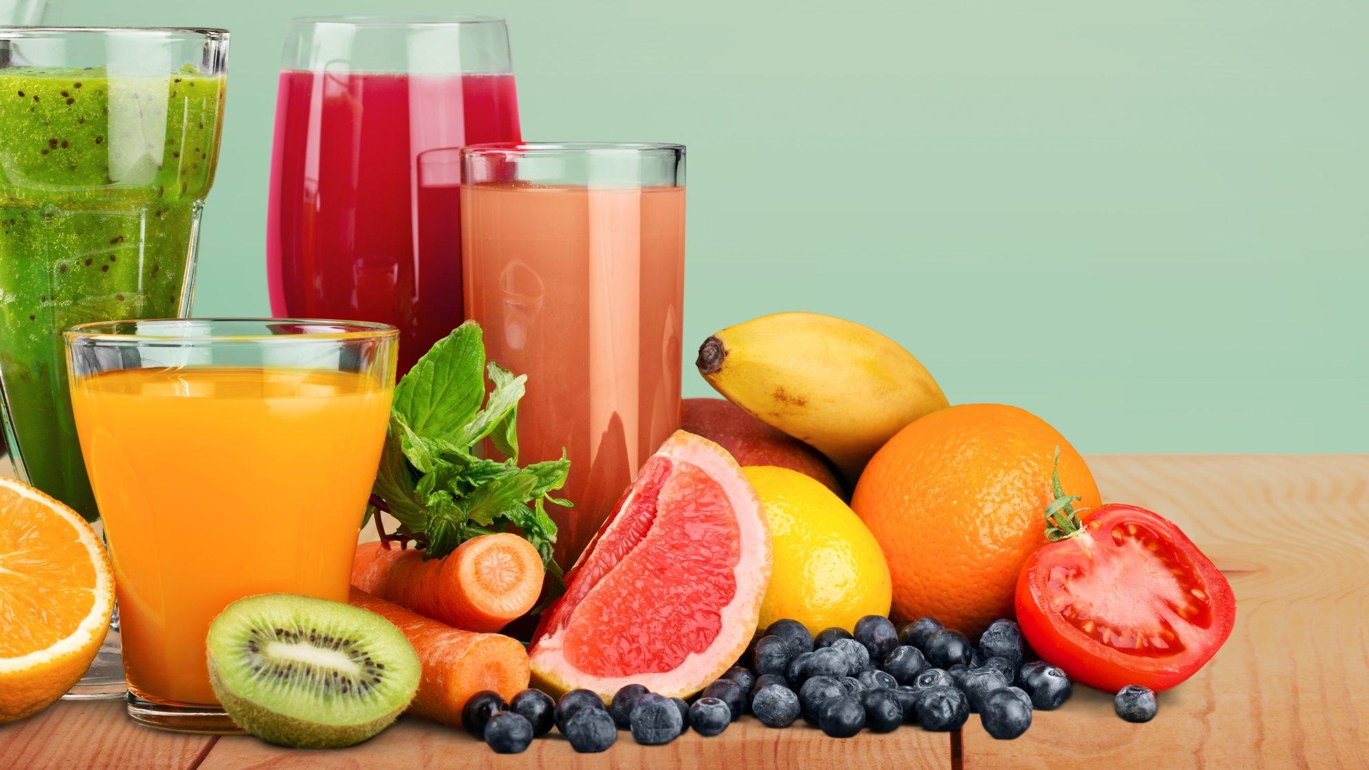 Les vertus des jus de fruits et légumes