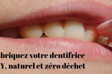 fabriquez dentifrice zéro déchet