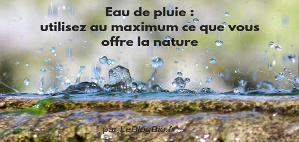 Eau de pluie : utilisez au maximum ce que vous offre la nature