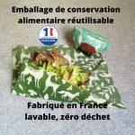 Emballage de conservation alimentaire zéro déchet - Bee Wrap français