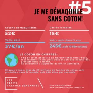 lingettes lavables zéro déchet infographie