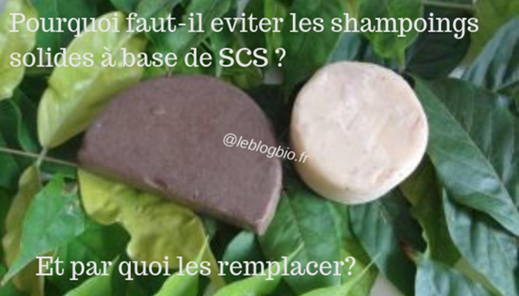 Evitez les shampoings solides à base de SCS
