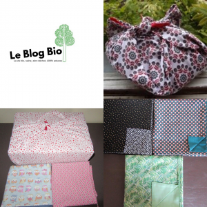 Emballage cadeau tissu réutilisable Furoshiki - Fabriqué en France - Creacecilou