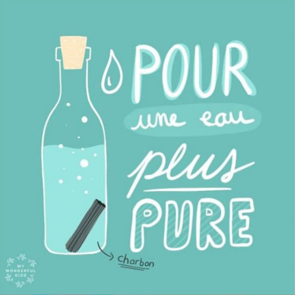 Charbon Binchotan pour boire l'eau du robinet