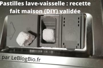 Recette DIY et fait maison de pastille lave-vaisselle écologique et presque zéro déchet