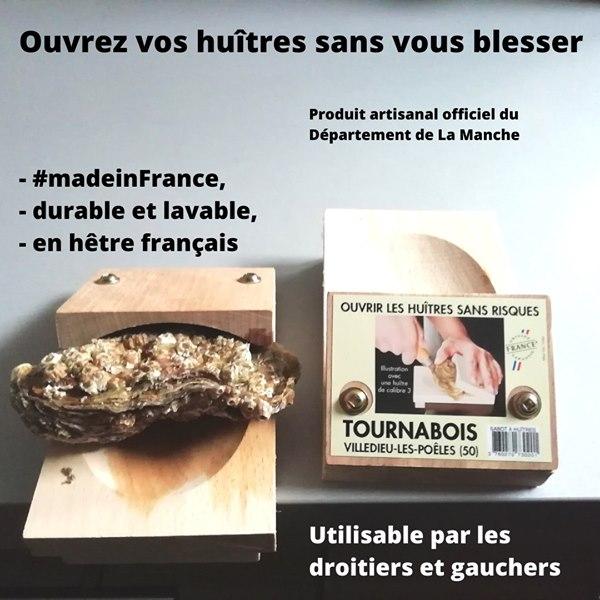 Ouvre huîtres fabriqué en France et en bois français