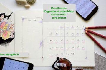 Ma sélection d'agenda et calendrier écolos - zéro déchet