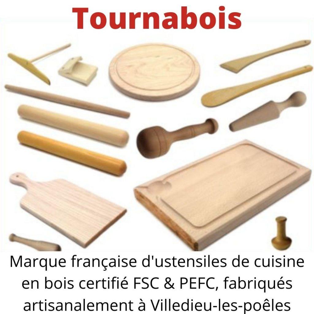 Tournabois - Marque française d'ustensiles de cuisine en bois certifié FSC & PEFC, fabriqués artisanalement à Villedieu-les-poêles