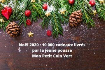 Noël 2020 10 000 cadeaux livrés par la jeune pousse Mon Petit Coin Vert