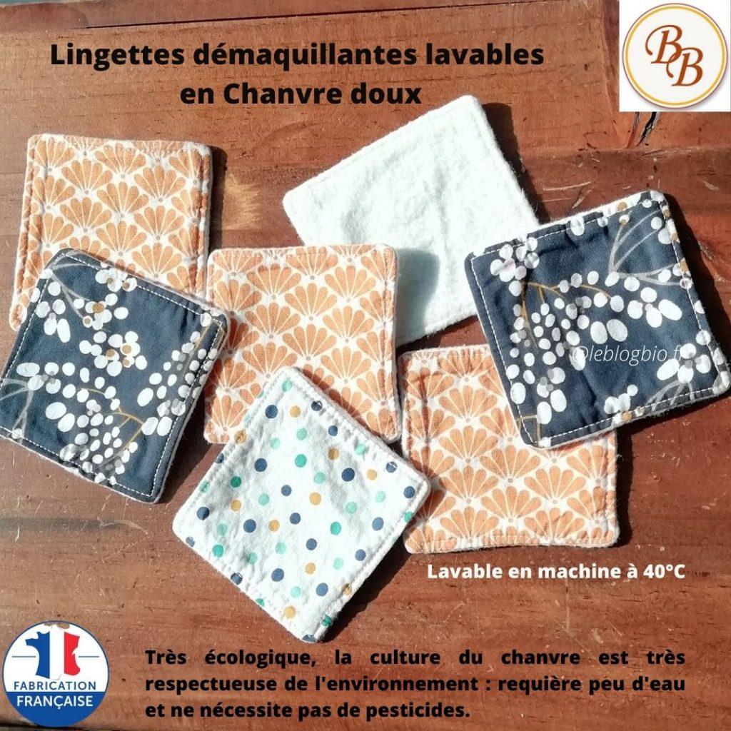 Lingettes Demaquillantes chanvre - DebulleenBulle
